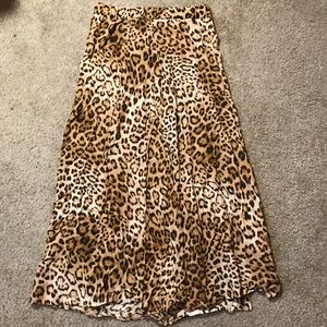 Leopard/cheetah skirt